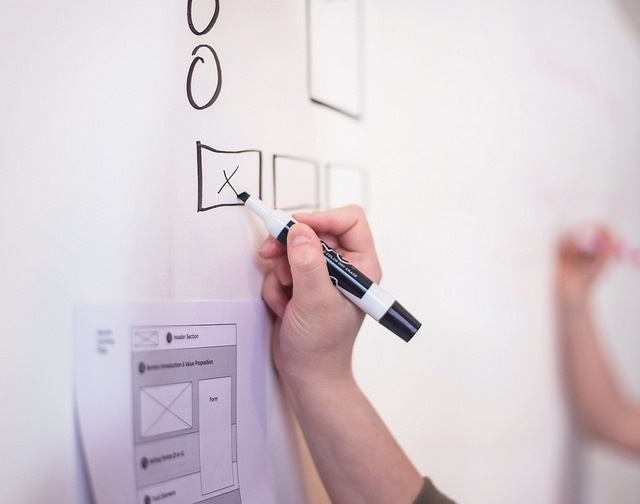 wireframes for website planning