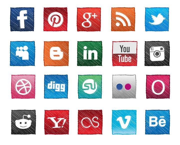 Social Media Icons for Website