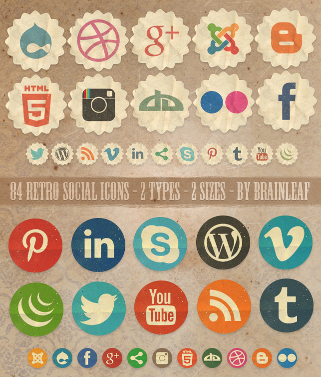 Social Meda Icons for Website