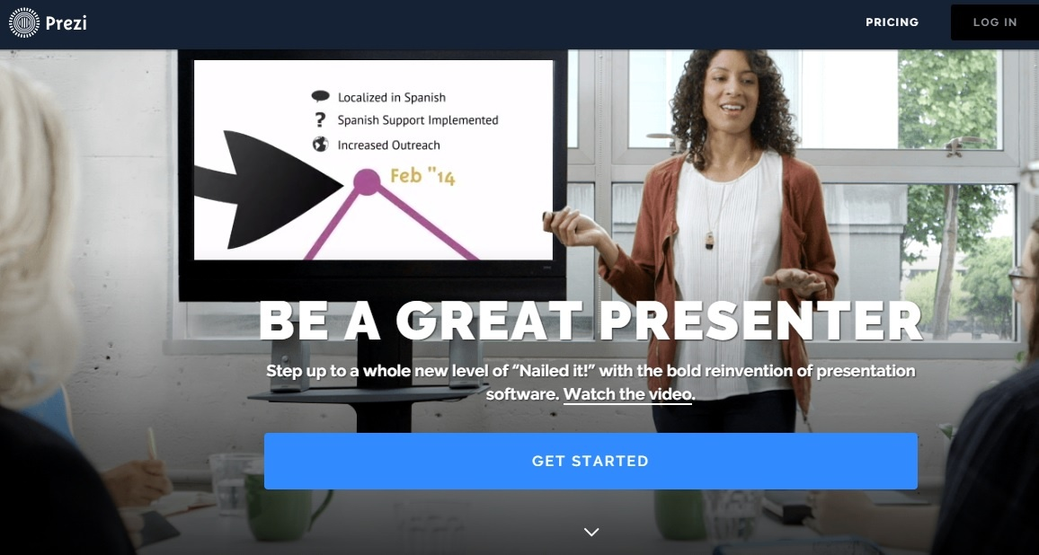 Prezi is one of the tools to enhance visual content