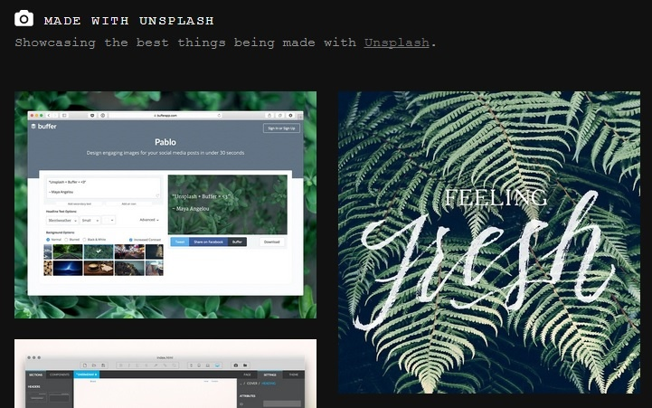 unsplash helps bloggers as one of the tools to enhance visual content