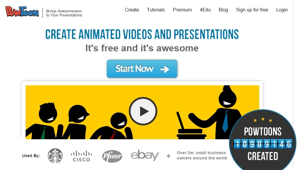 PowToon is one of the easy tools to enhance visual content