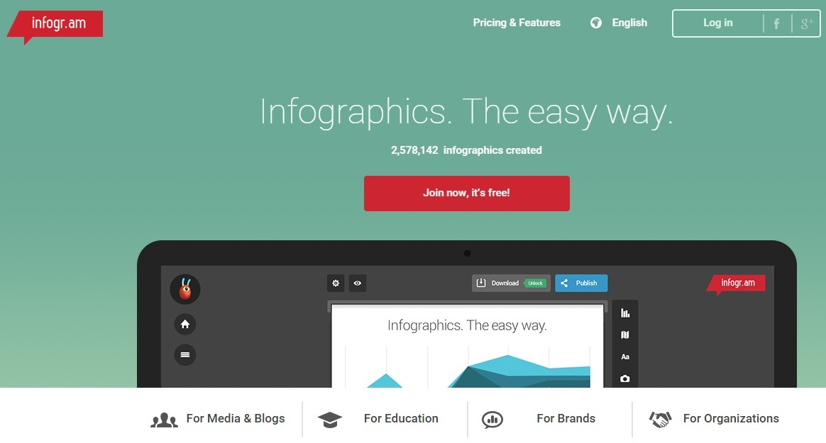 Infogram is one of the best tools to enhance visual content