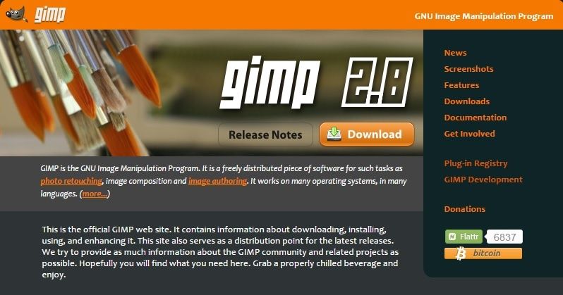 gimp is one of the best tools to enhance visual content