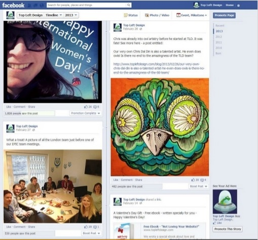 Facebook posts can show personality and professionalism in social media