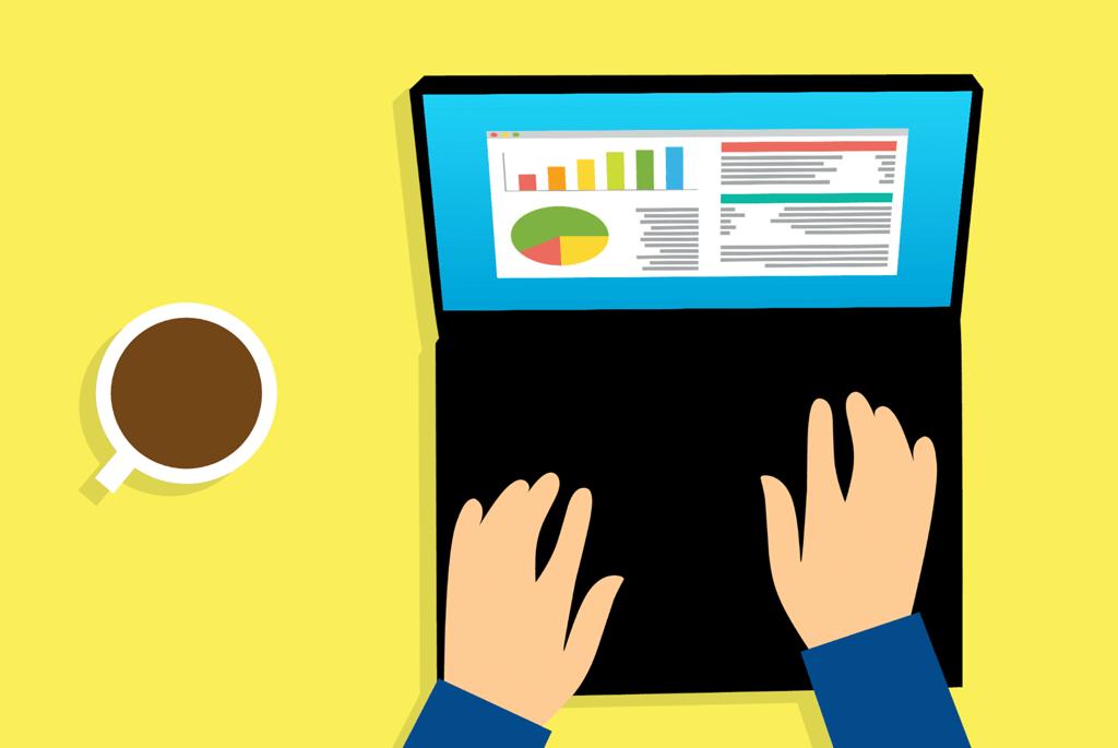 analysis-laptop-business-style-cartoon-graph
