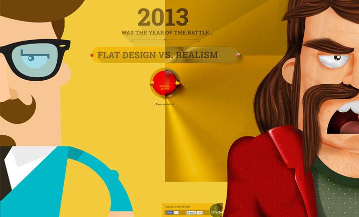flat vs realistic design