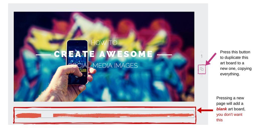 Social media image template