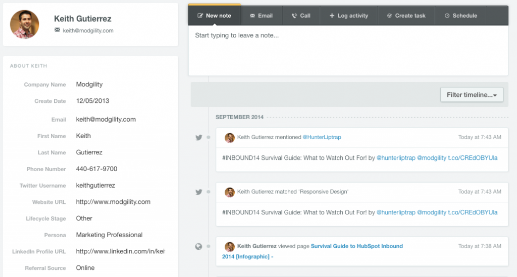 HubSpot-CRM-Profile-View