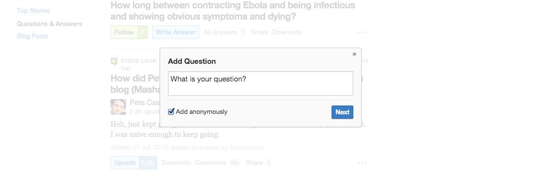 asking quora