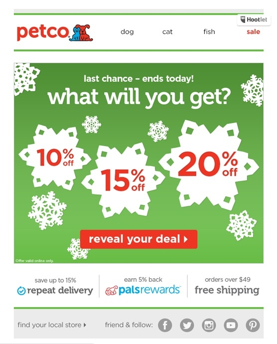 holiday coupon for email marketing ideas