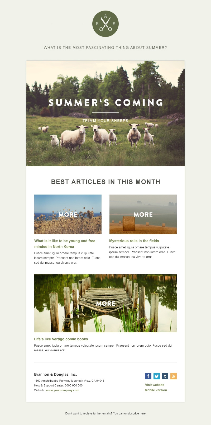 A Look Back - Free HTML Email Template