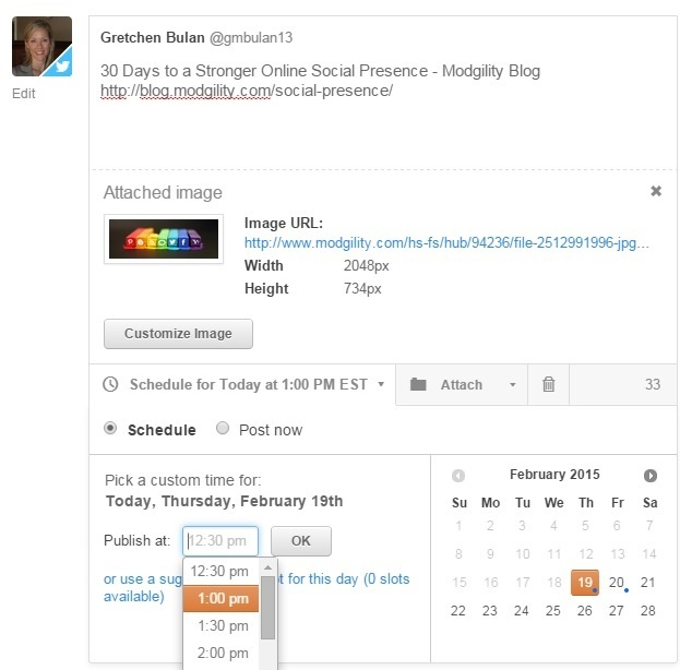 scheduling posts is a good tip for pre-planning social media