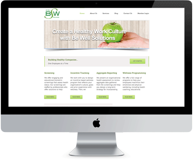 Well Solutions be well solutions web application for employee health